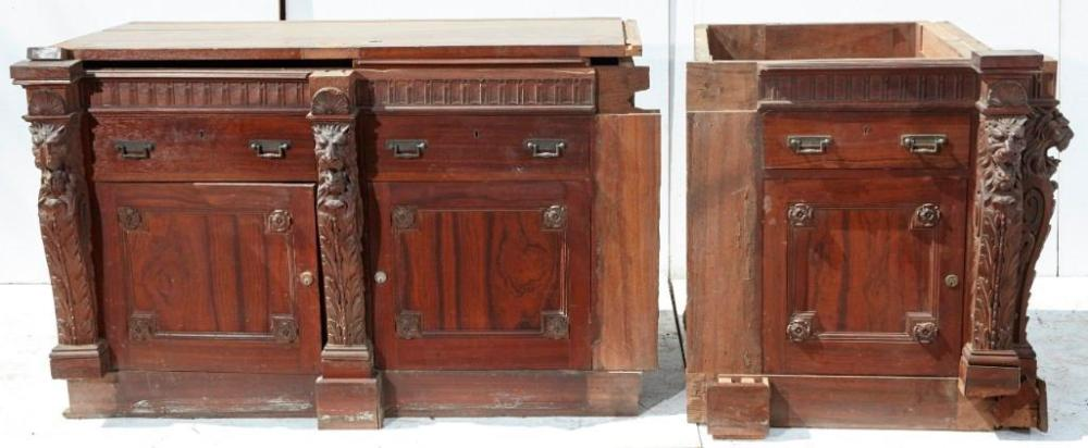 Brewster Mansion-Carved Architectural Buffet Base