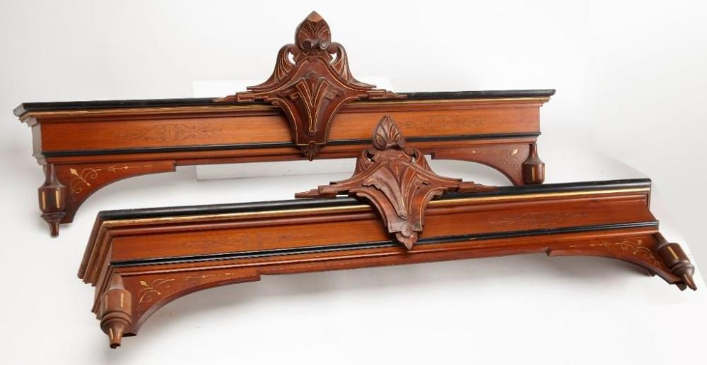 Pair of Carved Architectural Valences