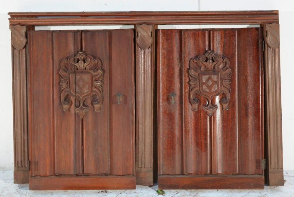 Lot of two Architectural Doors with original surround