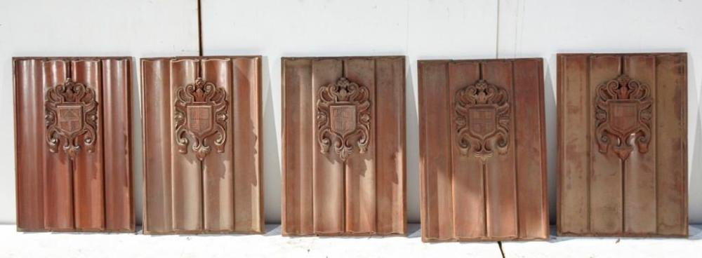 Brewster Mansion-Lot of 5 architectural Panels