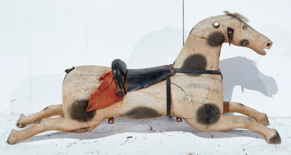 Brewster Mansion-Carved and Painted Rocking Horse