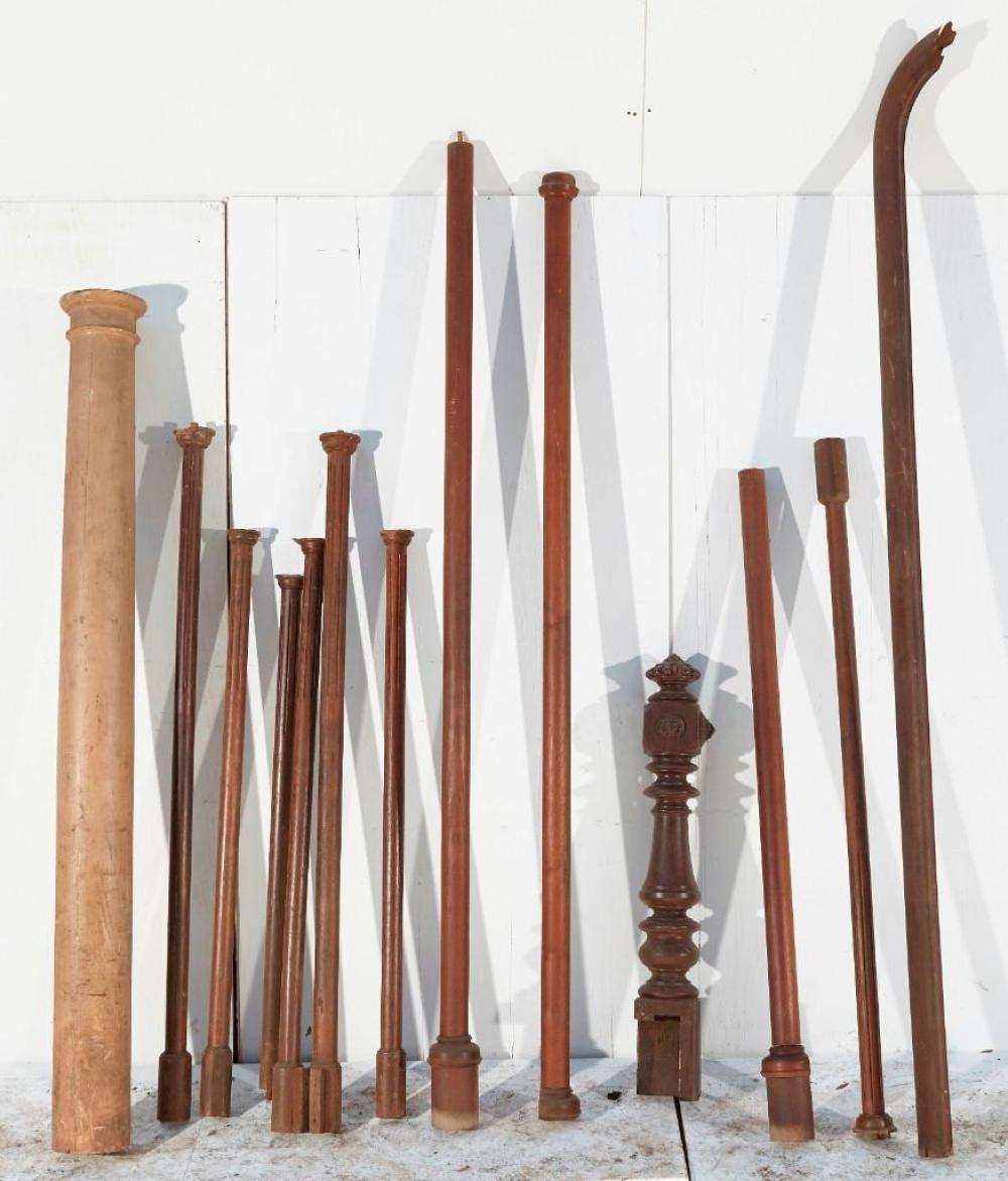 Lot of Architectural mixed columns with railing