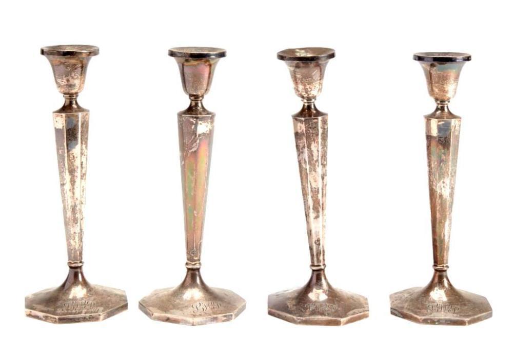 4 B&M Sterling Silver candlesticks