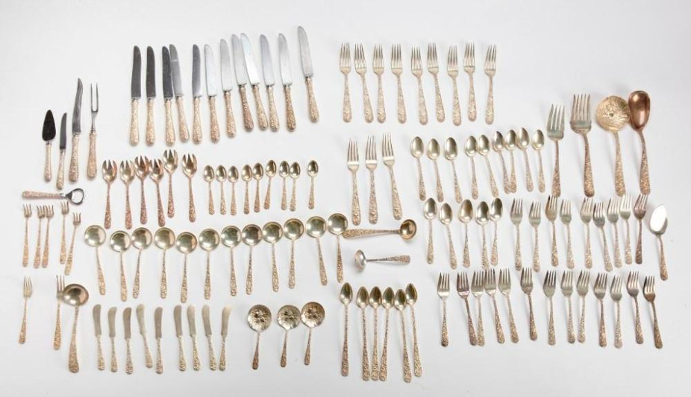"""Sterling Silver S.Kirk """"Repousse""""  Flatware"""