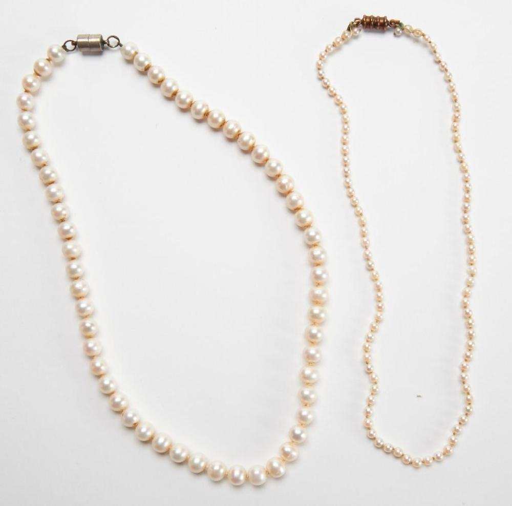 Two Strands of Antique Pearls