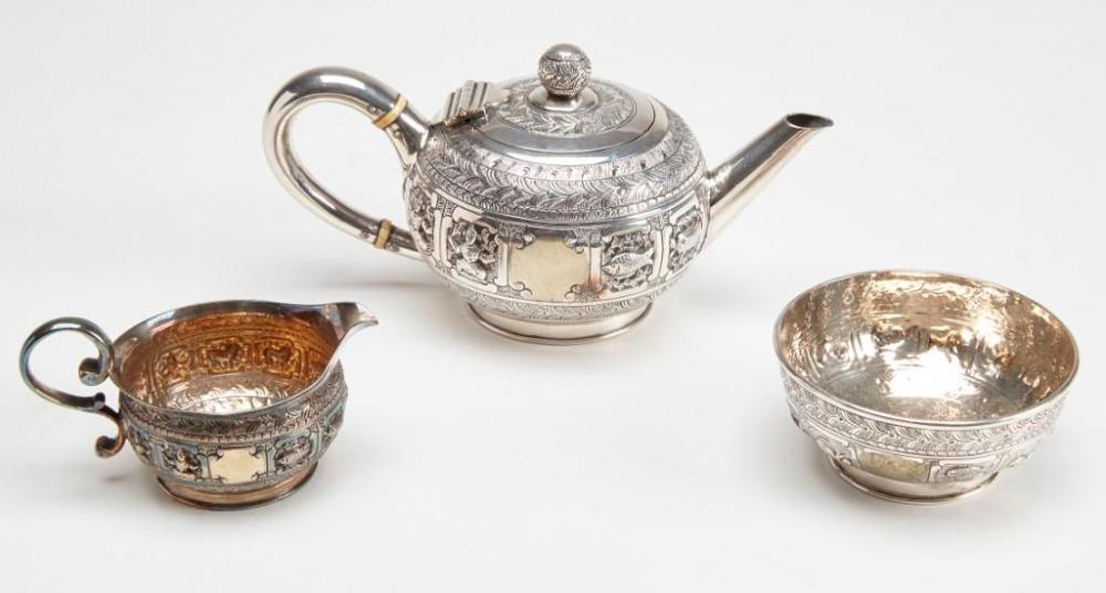 Mappin Brothers Silver Plate 3 Piece Tea Set