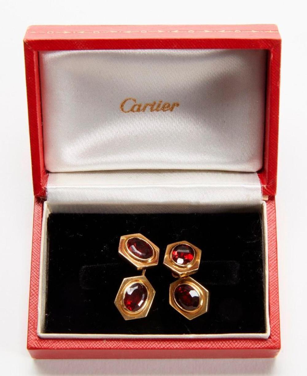 Cartier 18K Gold and Ruby Cufflinks