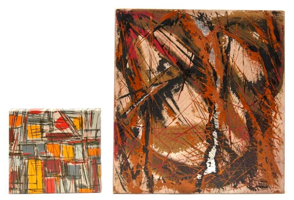 Fredric Karoly - 2 Abstract paintings