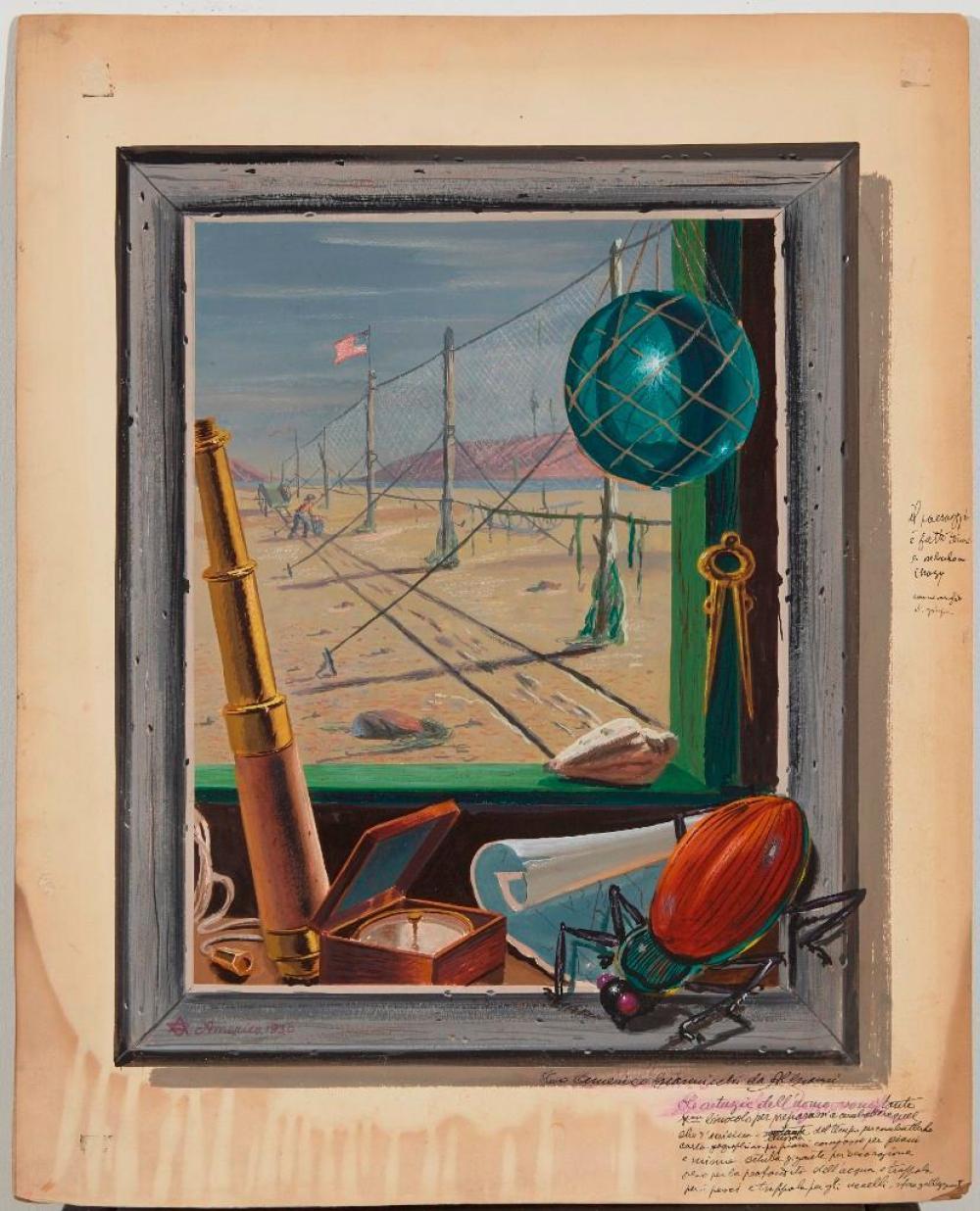 Algianni - Americo Modernist watercolor 1930
