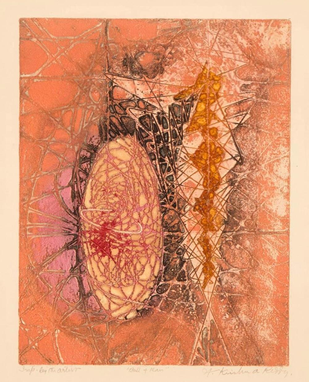Krishna Reddy - color etching