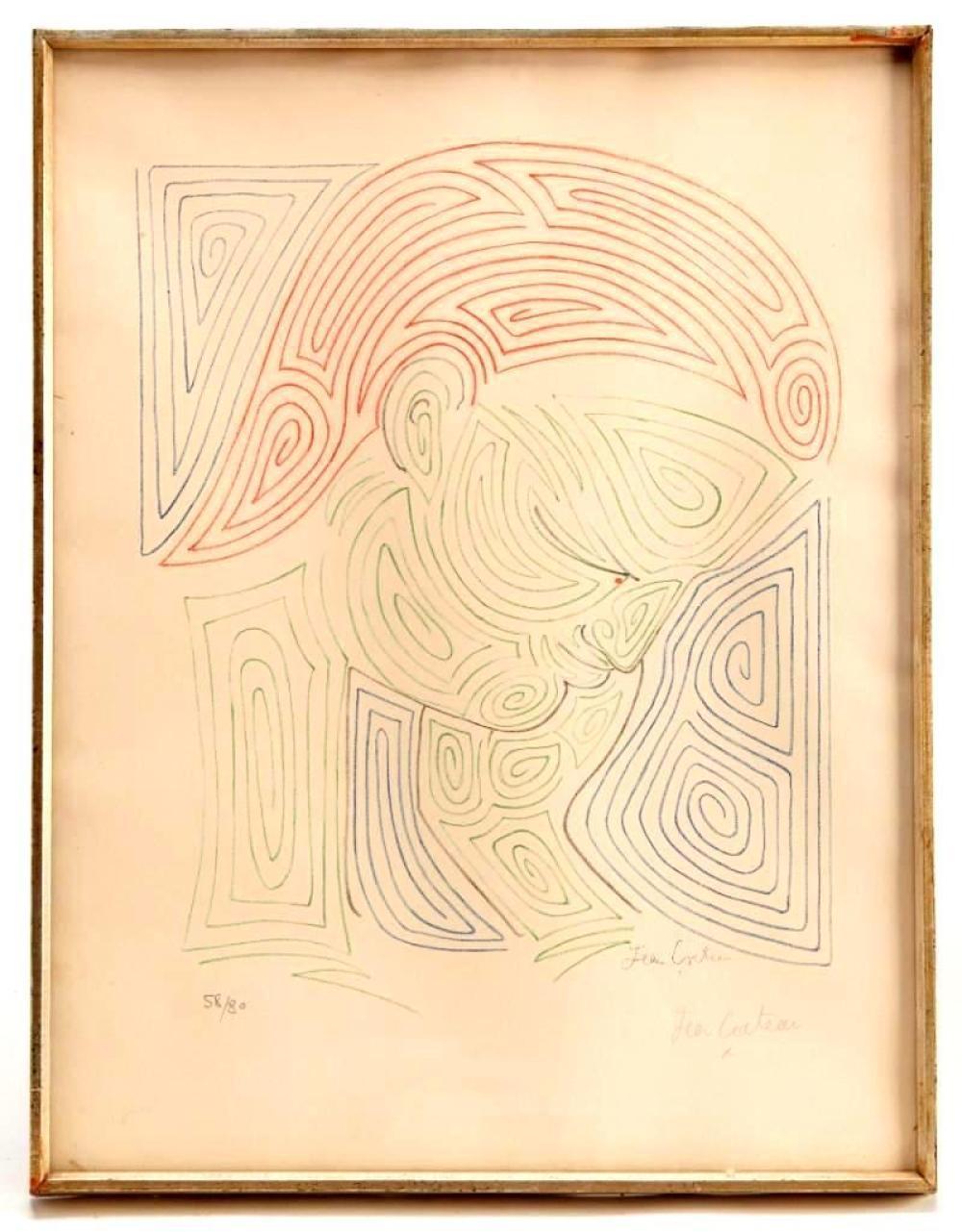 Jean Cocteau - Signed Print