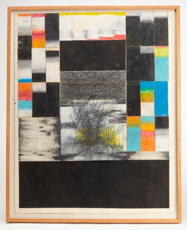 Edward Giobbi - mixed media on paper, 1967