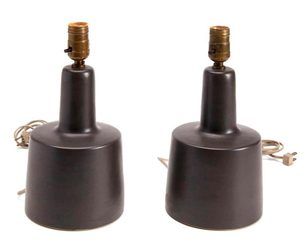 Pair Martz Pottery Lamps