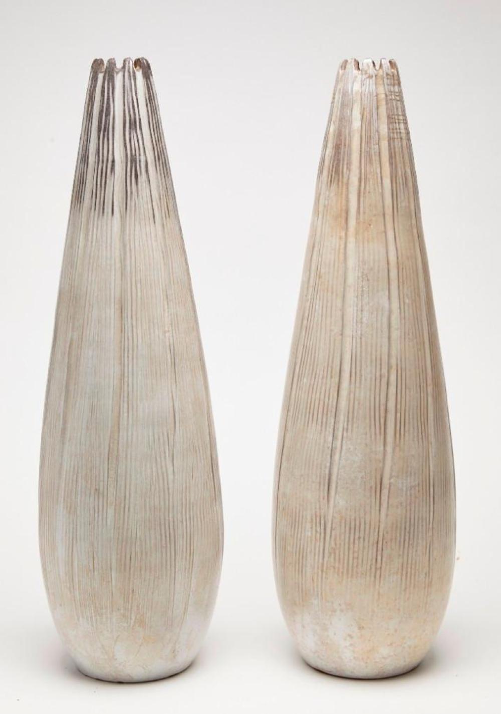 Pair 1960's Ceramic Vases