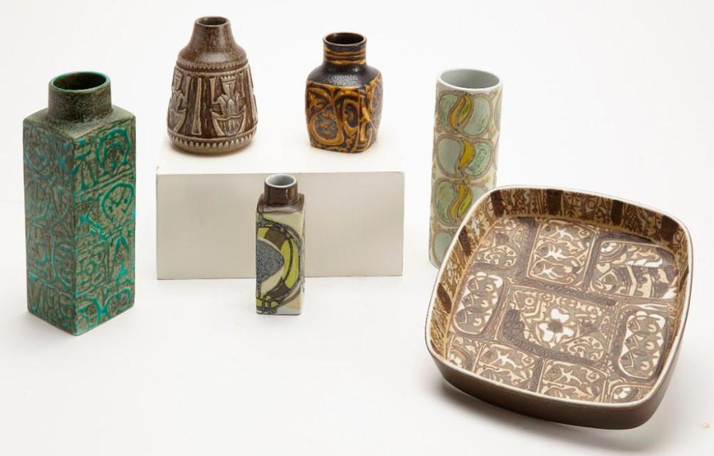 Danish Pottery Lot - mid century