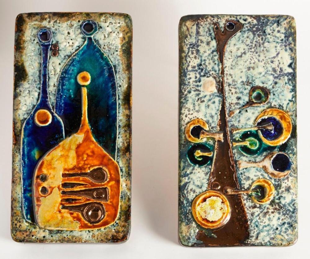 Two Hemut Schaffenacker Ceramic Plaques