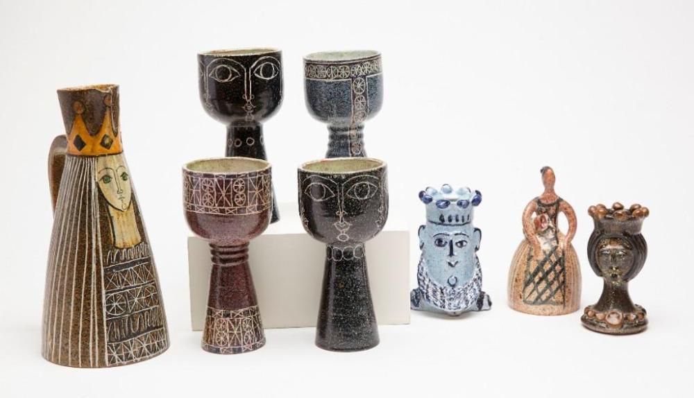 Alfaraz Ceramic 8 piece  Lot