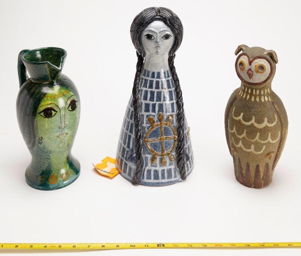 Alfaraz Ceramics- three large pieces