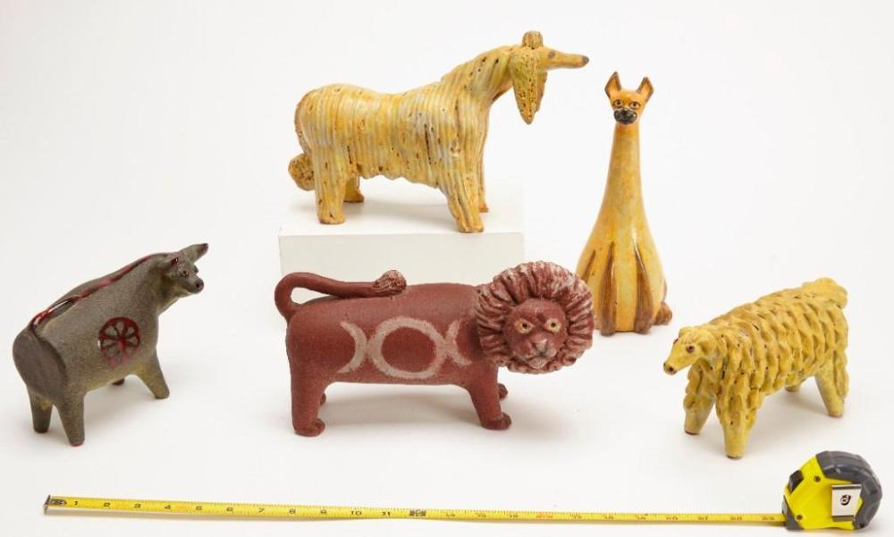 Lot of Five Alfaraz Animal Figures