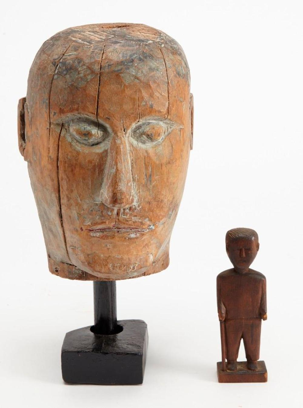 Carved Carnival Head of a Man