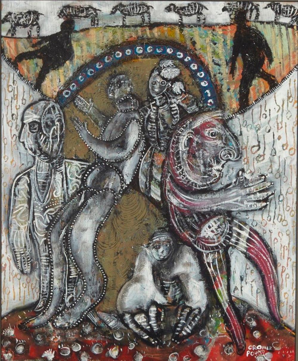 J.J. Cromer  Outsider Artist - 2 works on paper