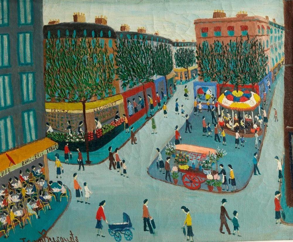 Jean Busquets (1895-1962) - Market Scene