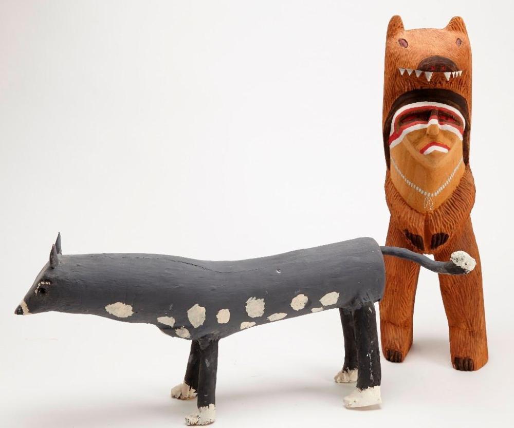 Robin Willeto and Woody Herbert - 2 carvings