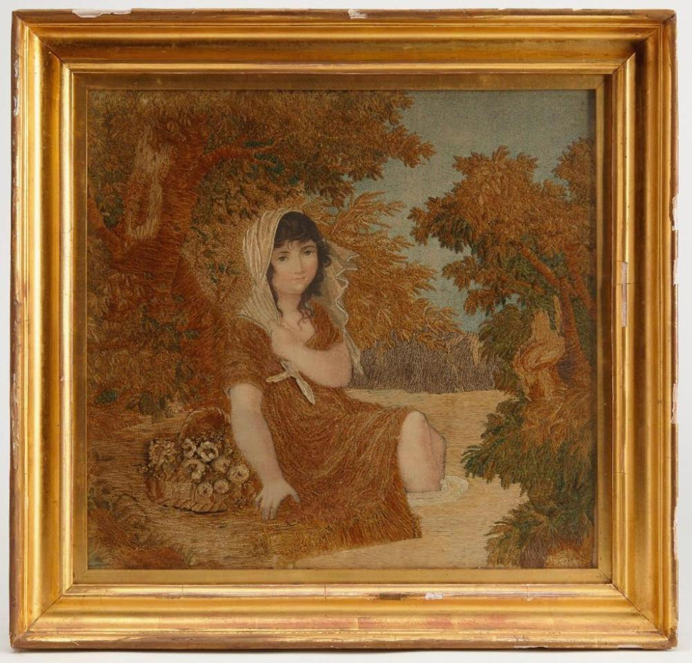 Early Needlework Picture