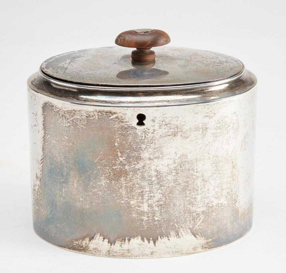 Silver Tea Caddy, A Kallick London, c 1800