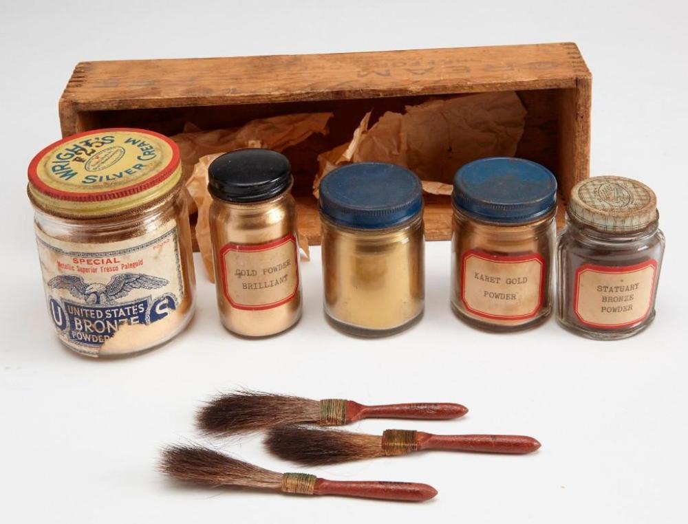 14 ozt 10K gold dust -old gilding set