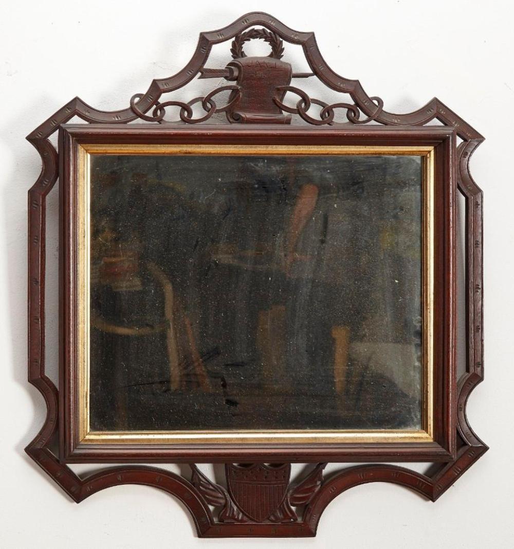 Folk Art Carved Civil War Frame