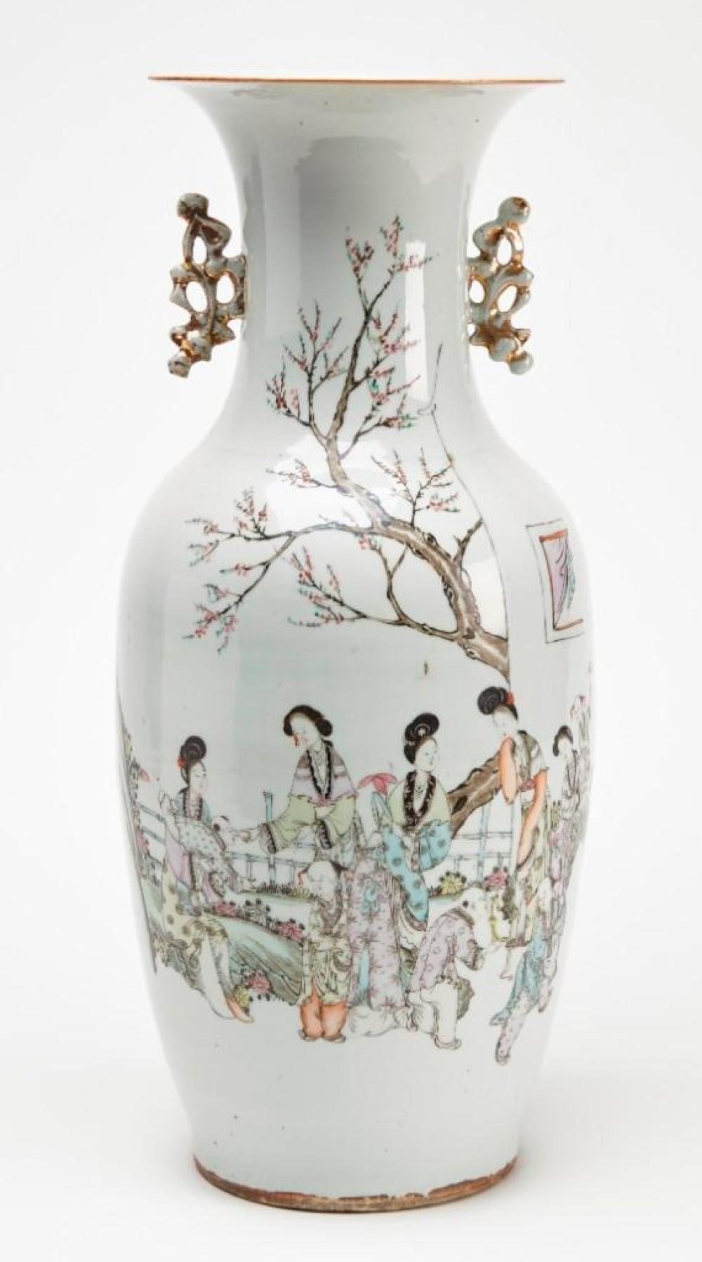 Tall 19th Century Porcelain Chinese Vase