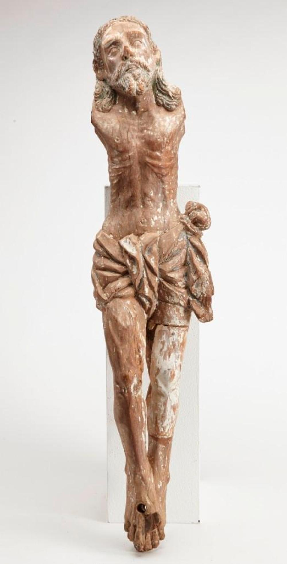 Early Carved Wooden Christ Figure