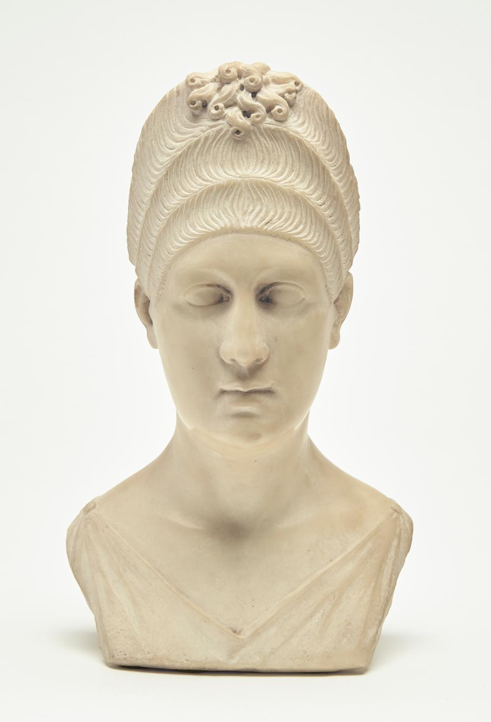 Carved Marble Bust of a Lady