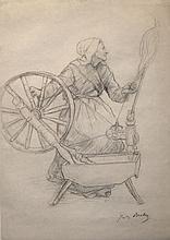 Jules Breton, La Femme au Rouet (Woman at the Spinning Wheel)