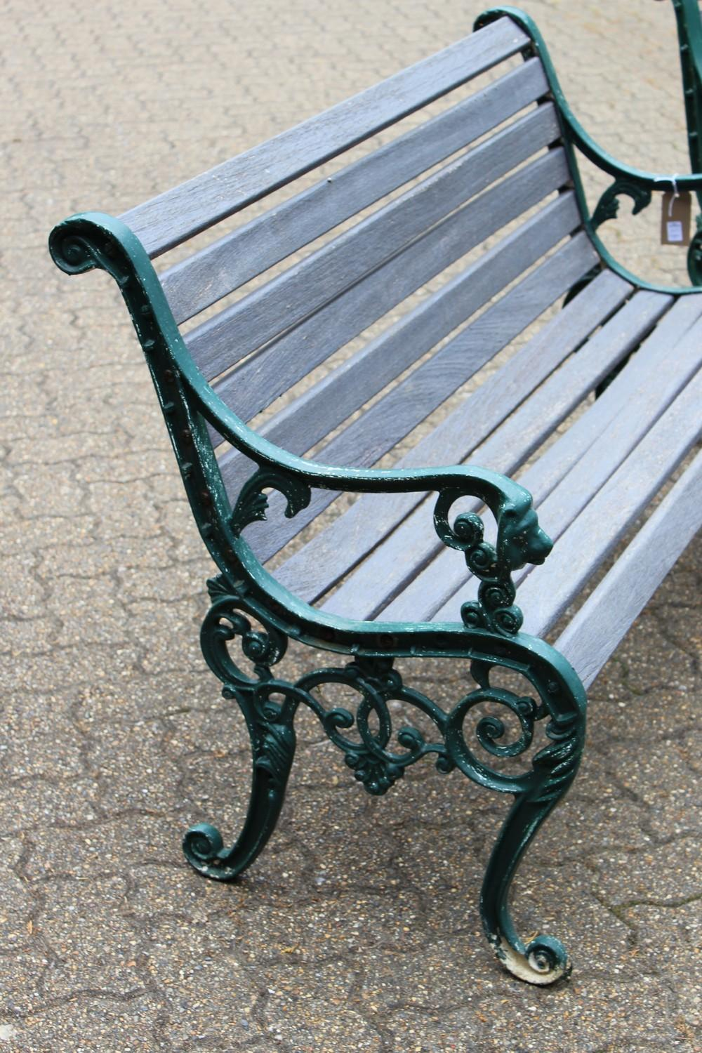 Sold Price A Pair Of Victorian Style Garden Benches Each With Ornate Cast Metal Ends And Wooden Slats Together With The June 4 0120 10 30 Am Bst