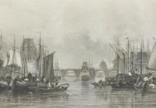 After J... Salmon (19th Century) British. 'The Upper Pool', Print, 5