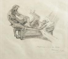 Francois Coupe (19th - 20th Century) French. 'Mignonne, voici la Vrille', Etching, 6.25