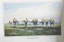 Terrence Brind (20th - 21st Century) British. 'Eagle Squadron Scramble', Lithograph, Signed and numbered 103/825 in Pencil, Unframed, overall 17.5