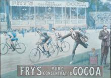 20th Century English School. 'Fry's, Pure Concentrated Cocoa', with a Cycle Race, Print, 15.5