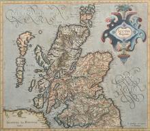 Gerhard Mercator (1512-1594) Belgian. 'Scotia Regnum', Engraving, 14