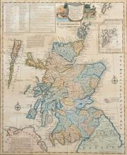 Emanuel Bowen (1694-1767) British. 'A New Accurate Map of Scotland or North Britain', Engraving, 17.25