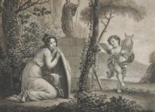 After Ludwig Rullmann (1765-1822) German. 'Elle Commence a L'Ecouler', Engraving, 13
