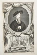 After Hans Holbein (1497-1543) German. Portrait of Edward Seymour, Duke of Somerset, Engraving, Unframed, overall 20.5
