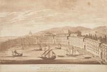 After Richard Cooper (1740-c.1814) British. 'A View of the Port and City of Messina in the Islands of Sicily', engraving, Unframed, overall 12.25