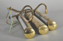 20th Century English School. A Brass Light Fitting, 14