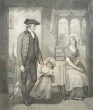 Thomas Burke (1749-1815) British. 'The Curate of the Parish Return'd from Duty' [sic], after William Singleton, Engraving, 15.75
