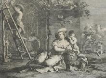 After Francesco Maggiotto (1750-1805) Italian.