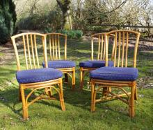 A SET OF SIX SIMILAR BAMBOO CHAIRS (6).