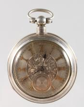A GENTLEMAN'S SILVER CASED POCKET WATCH by JOSEPH SHARPLES, BRIDGE STREET, BRECHIN, No. 28944. <br>Chester hallmark 1896.